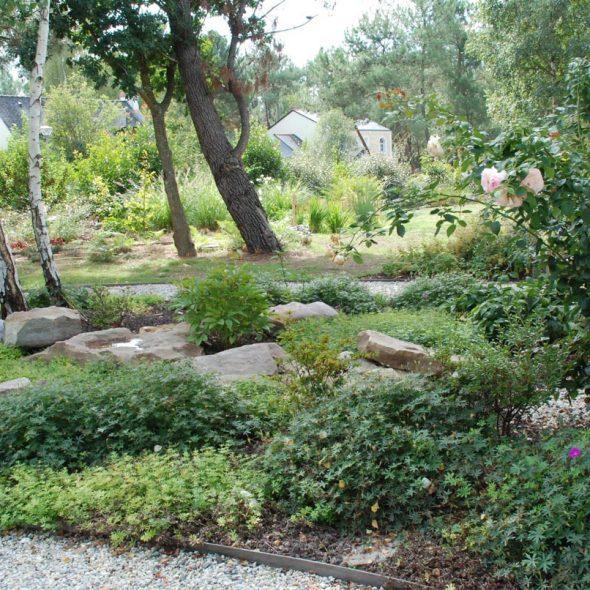 Réalisation de jardin paysager