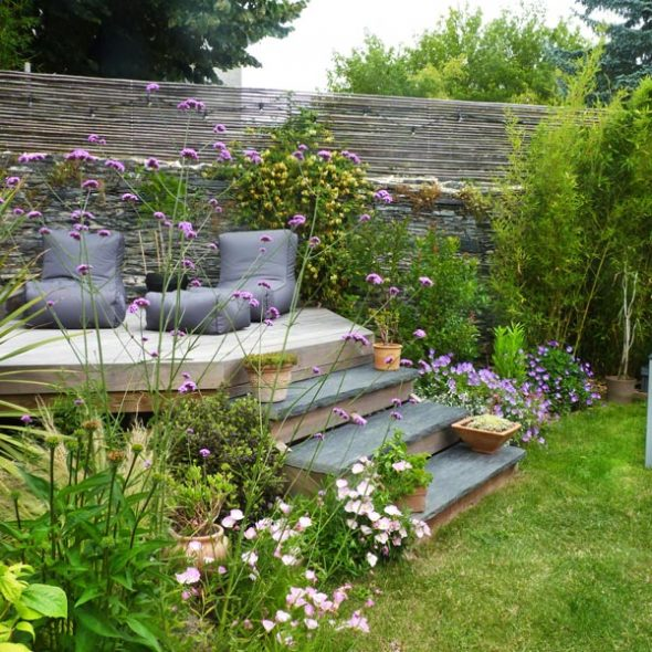 Là où le jardin et la maison se rencontrent.
