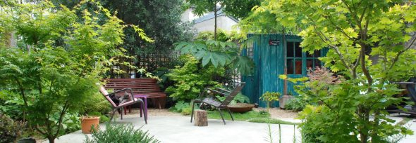Mini jardin plein centre ville (100 m²)