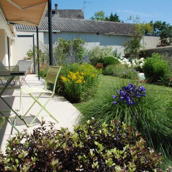 aménagement paysager jardin et terrasse