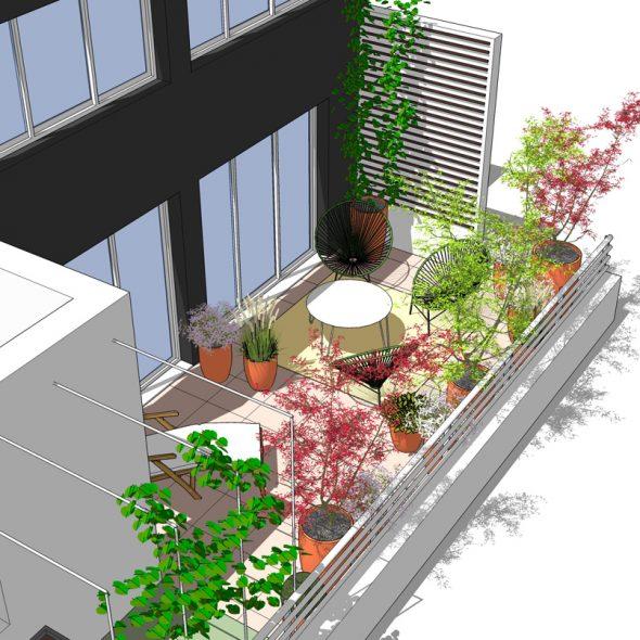 conception terrasse arborée