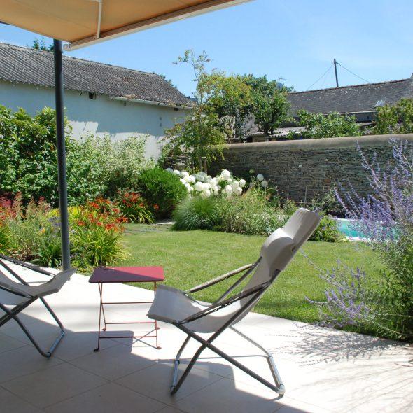 aménagement paysager terrasse et jardin
